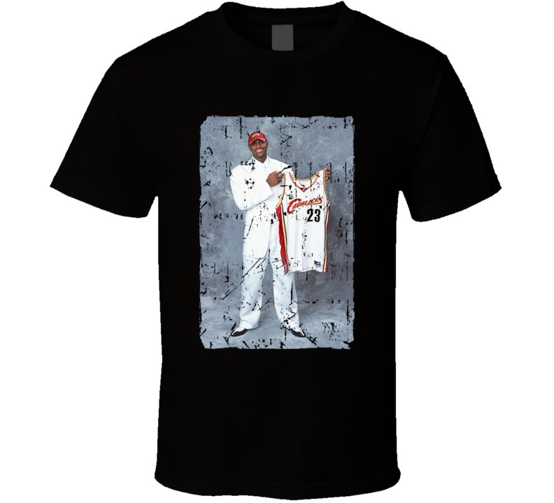 Lebron James Original Draft Day Picture T Shirt