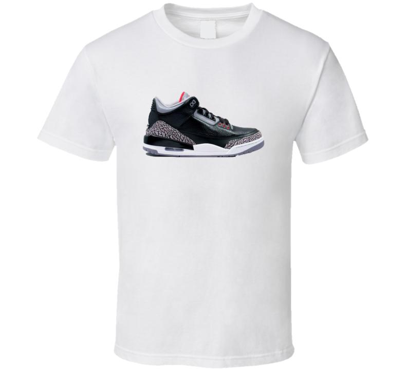 e6ab6ceada1372 Jordan 3 Retro Black Cement T-shirt