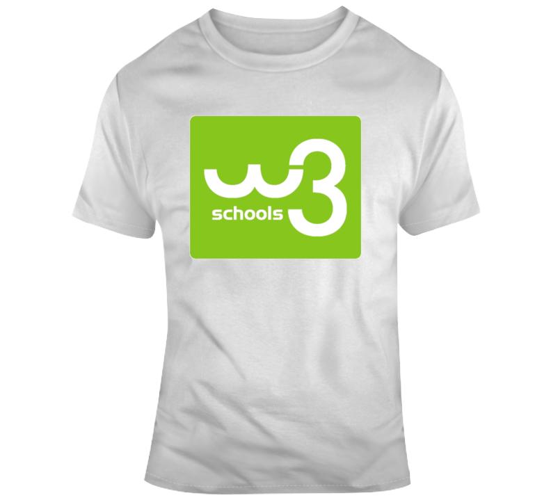 W3 Schools Coding T Shirt