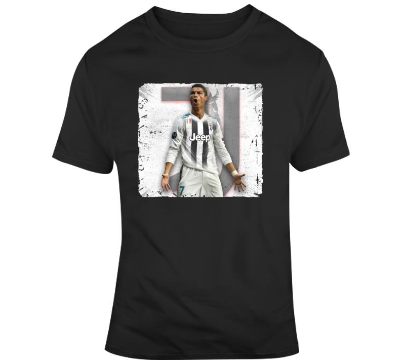 Cristiano Ronaldo Juventus Grunge T Shirt
