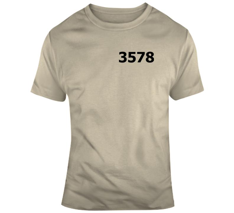 3578 El Chapo Prison Concept T-shirt