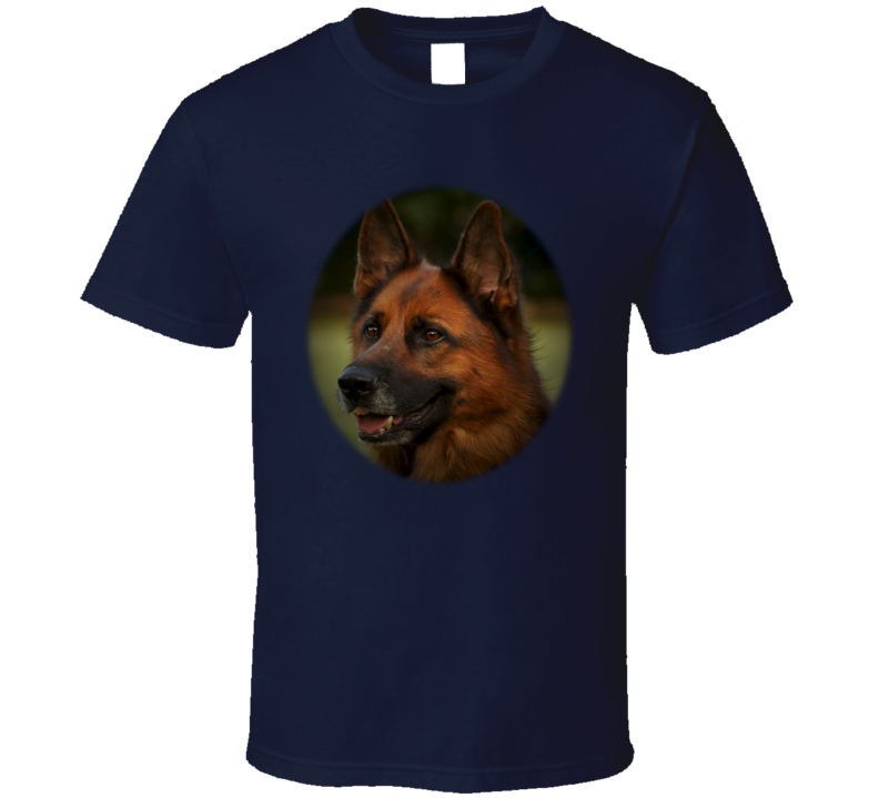 Red German Shepherd Oval T Shirt
