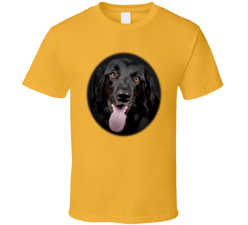 Black Labrador Oval T Shirt