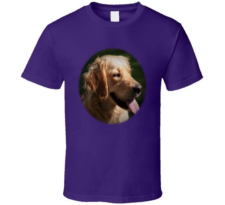 Golden Retriever Oval T Shirt