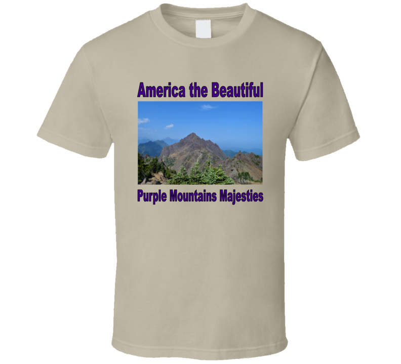 America the Beautiful Purple Mountains T Shirt