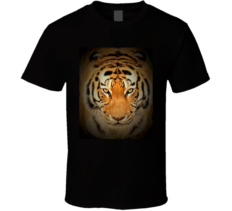 Tiger on Black T Shirt