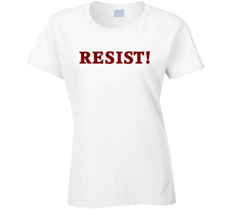 RESIST! Red Text T Shirt