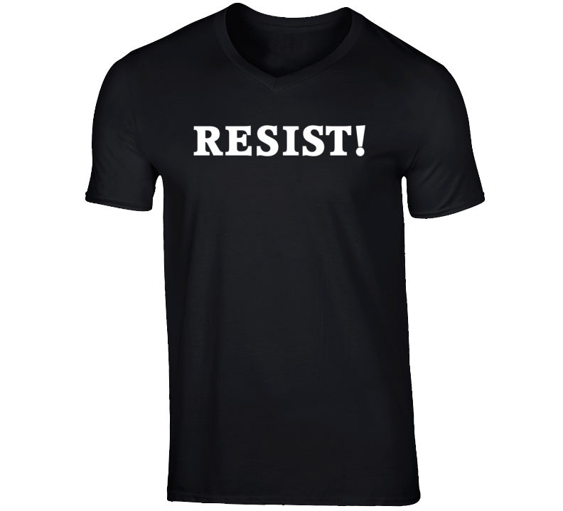 RESIST! White Text T Shirt