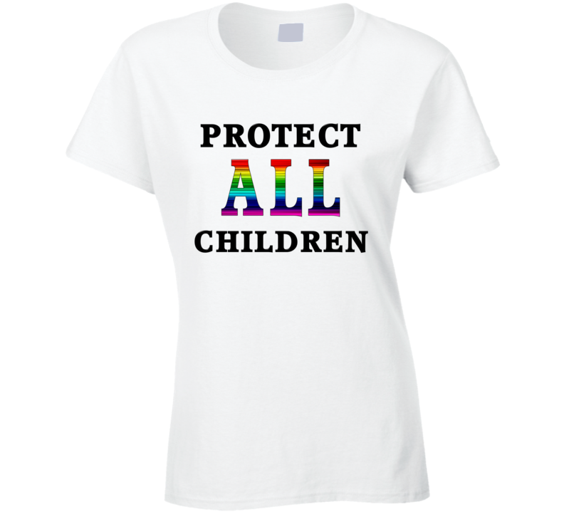 Protect All Children Black Text T Shirt