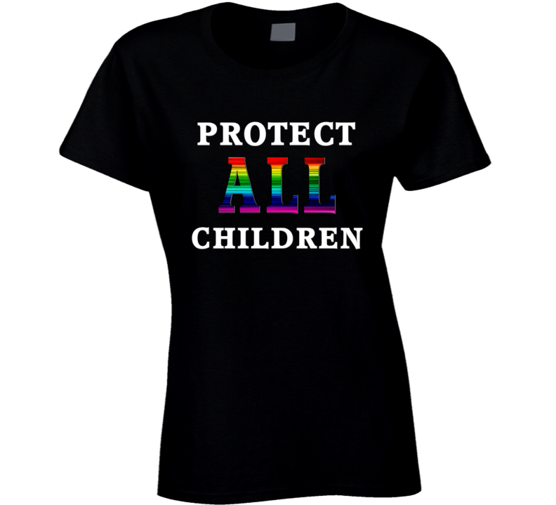 Protect All Children White Text T Shirt