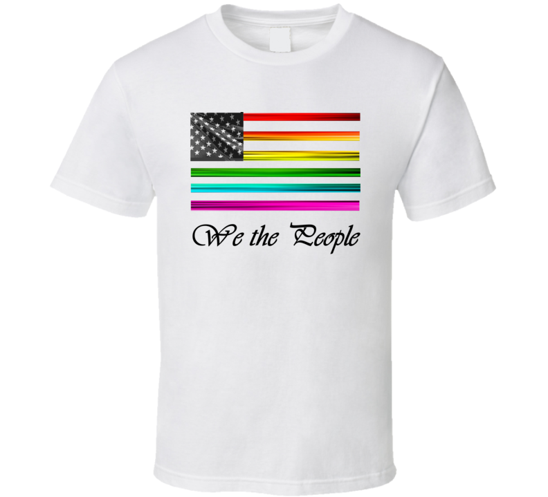 We the People Black Text T Shirt