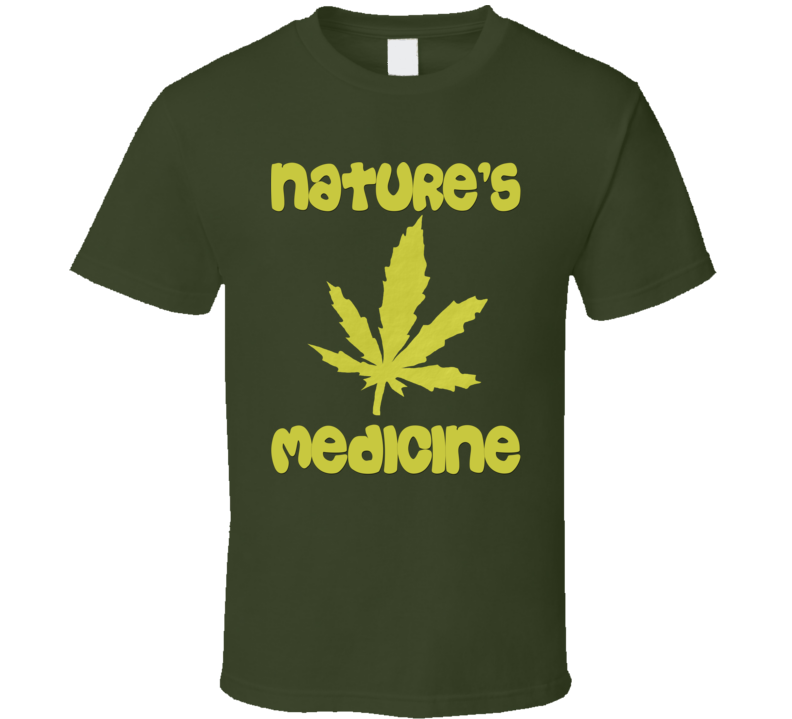 Nature's Medicine (Gold Text) T Shirt