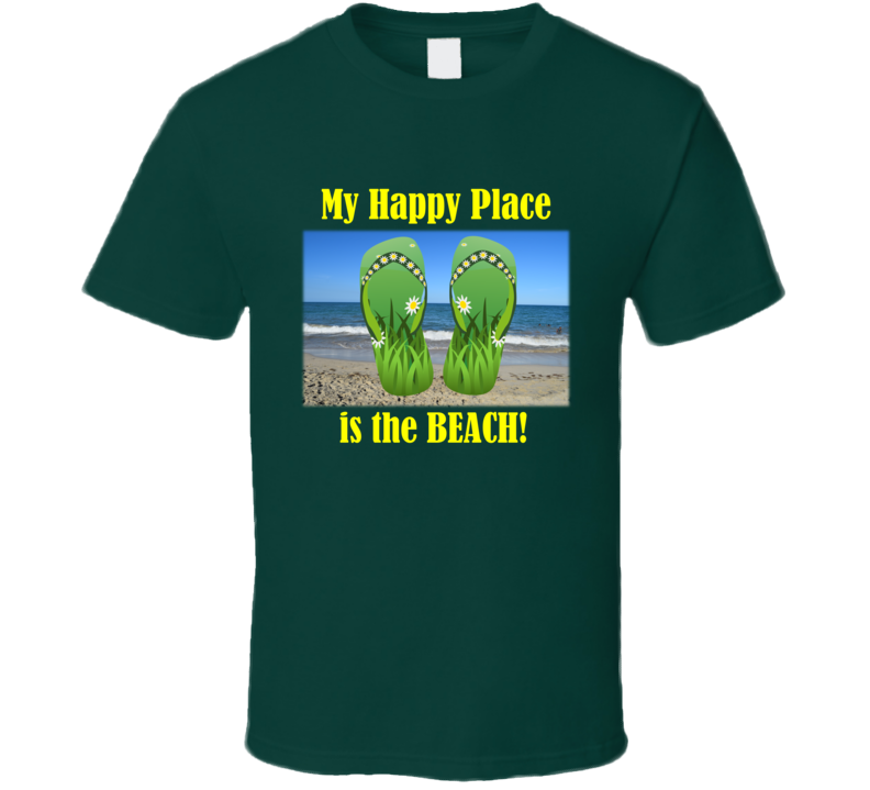 My Happy Place is the Beach (YT) T Shirt