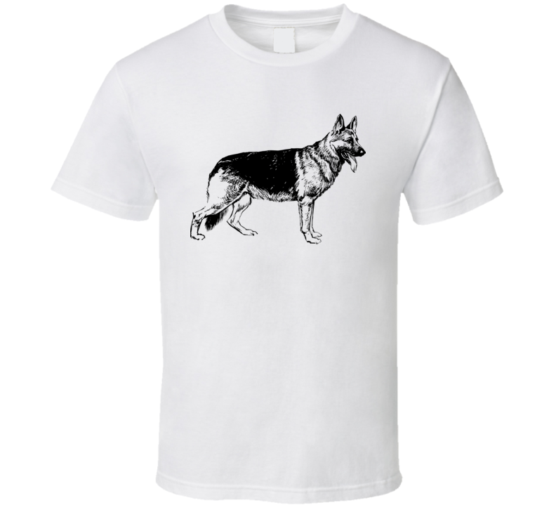 German Shepherd Drawing T Shirt