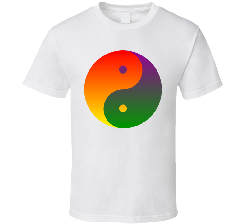 Ying Yang Raindow T Shirt