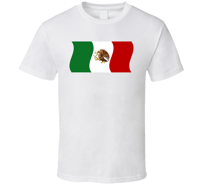 Mexico Waving Flag T Shirt