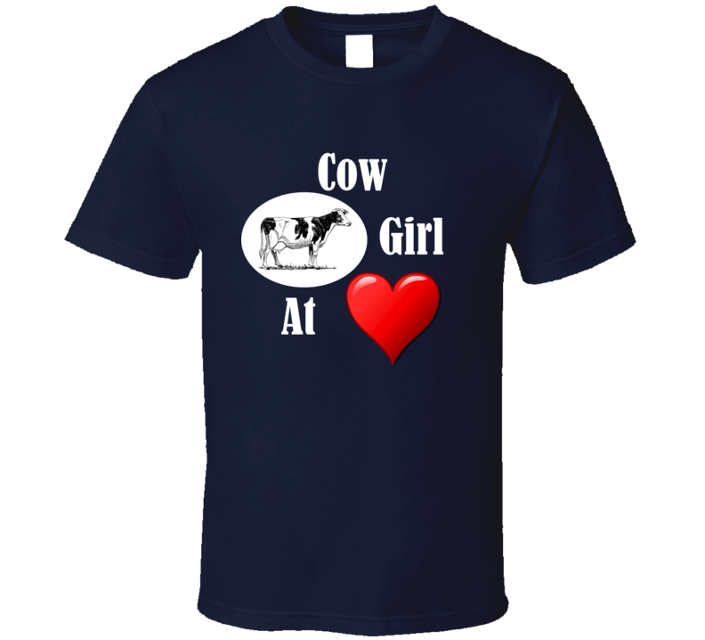 Cow Girl at Heart v.2 T Shirt