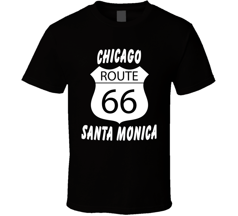 Route 66 Chicago Santa Monica V.1 T Shirt