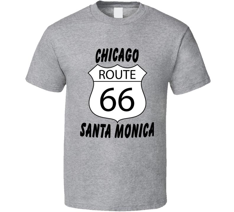 Route 66 Chicago Santa Monica V.2 T Shirt