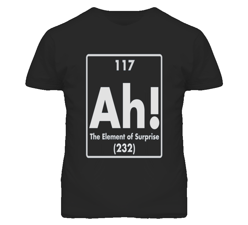 Element Of Surprise Ah Funny T Shirt