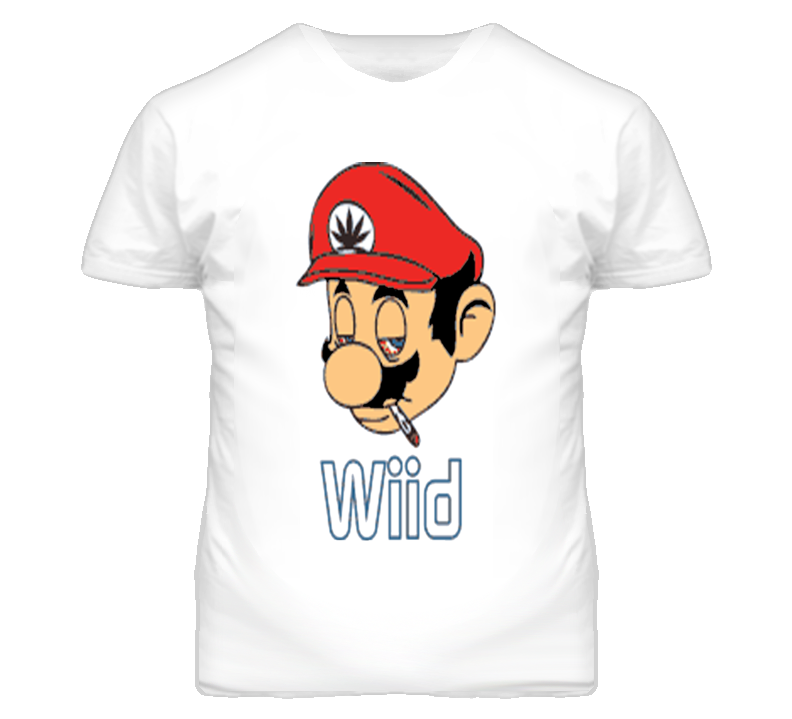 Super Mario Bros Mario Wiid Video Game Funny T Shirt