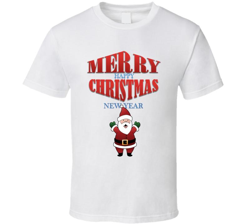 Em4shirts Merry Christmas Happy New Year T Shirt