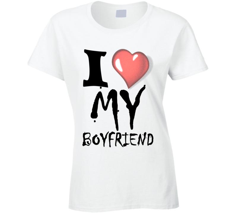 Annalynne Mccord Quoted I Love My Boyfriend Slogan T Shirt