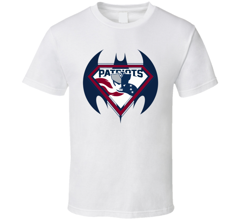 New England Superman Batman Super Hero T Shirt