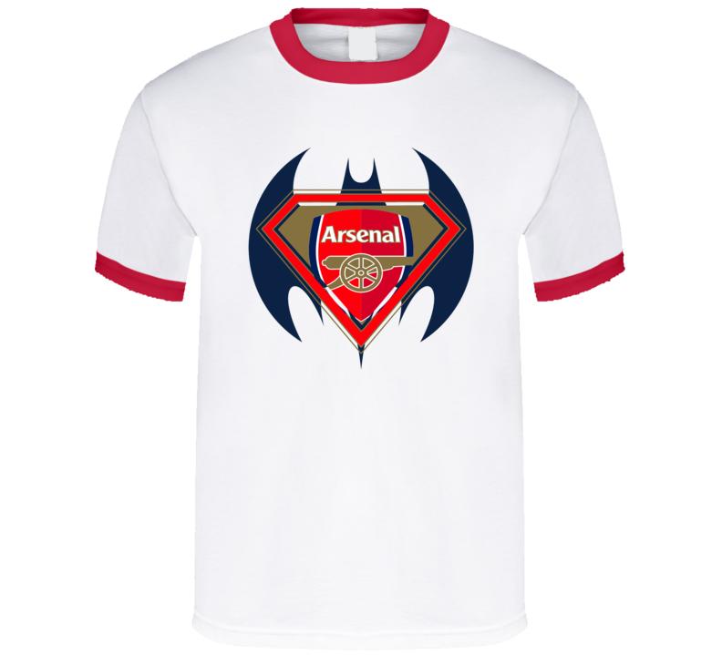 Arsenal Football Club Superman Batman Logo T Shirt