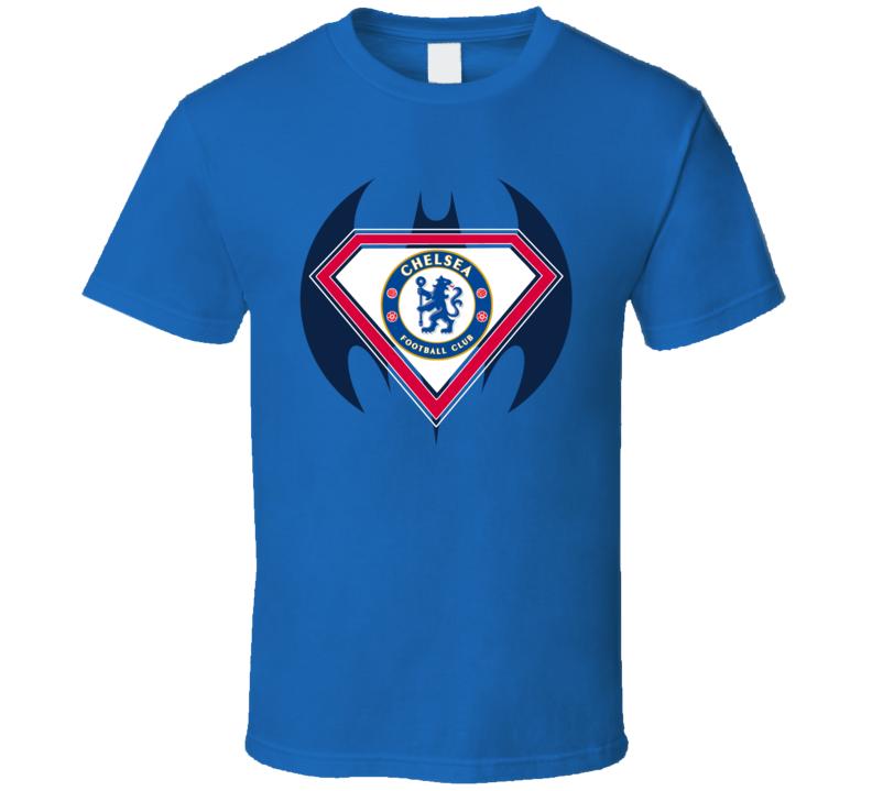 Chelsea Football Club Superman Batman Logo T Shirt