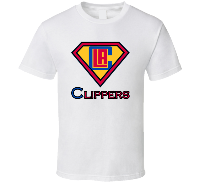 Los Angeles Clippers Superman Superhero T Shirt