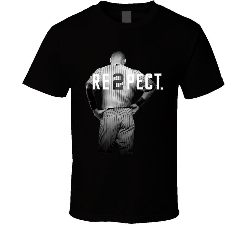 Respect Derek Jeter Re2pect Greatest Short Stop MJ New York T Shirt