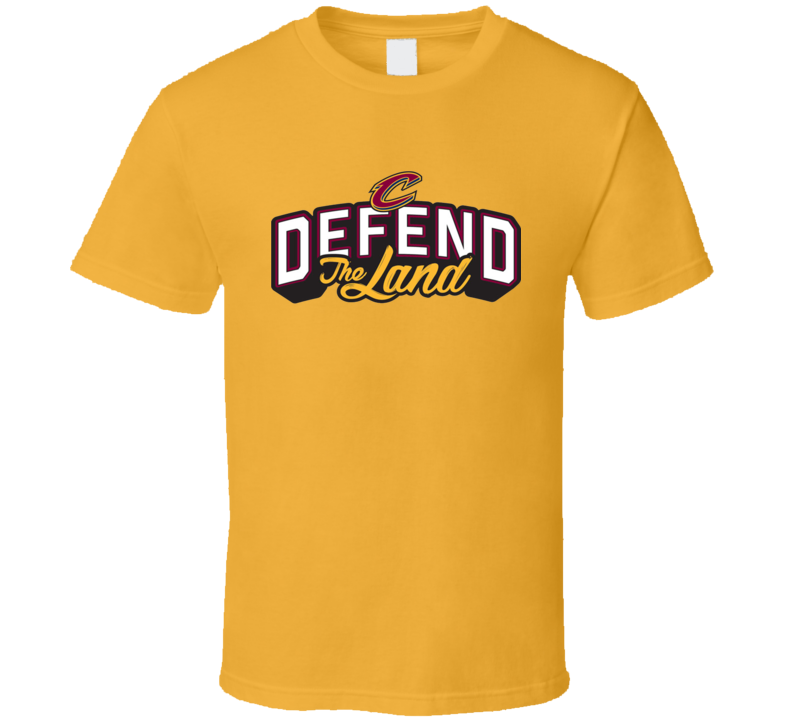 Cleveland cavaliers playoffs champs defend the land for Cleveland t shirt printing