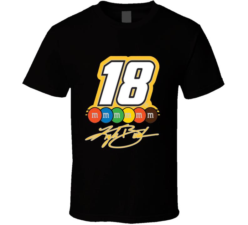 Kyle Busch NASCAR Racer WinCraft Signature Number Pin 18  m&m Graphic T Shirt