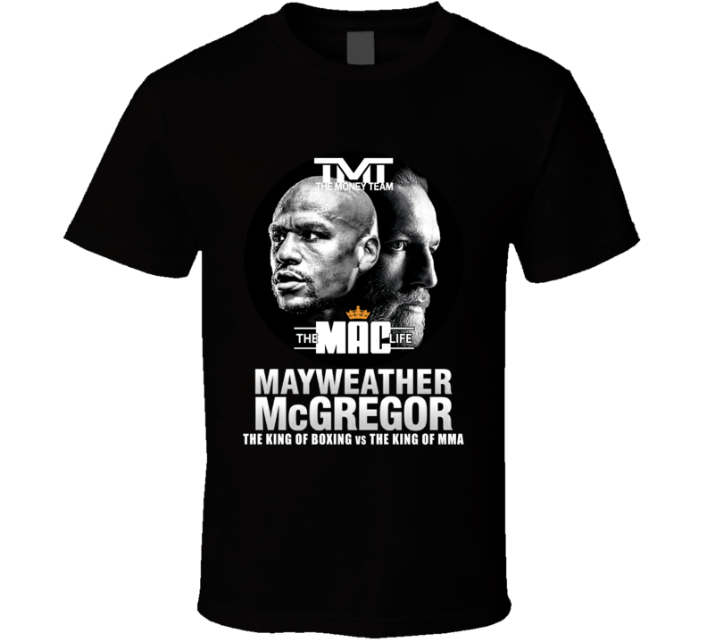 TMT Floyd Money Mayweather VS Conor McGregor TML UFC MMA Boxing Fight T Shirt