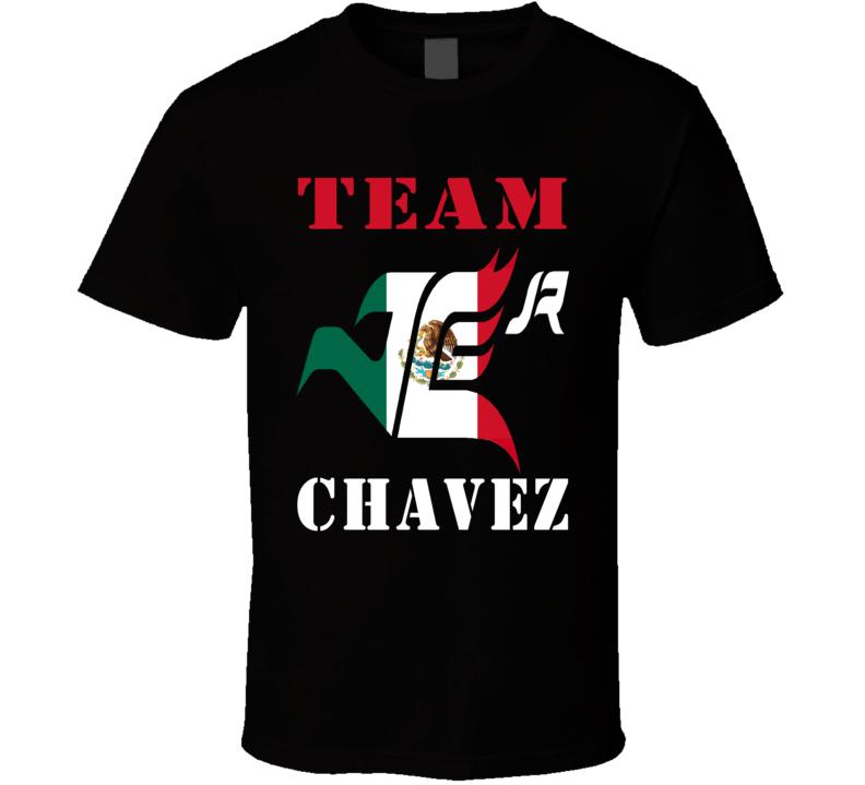 Team Chavez Fight Mexican Flag  Julio Cesar Chavez Jr Boxing T Shirt