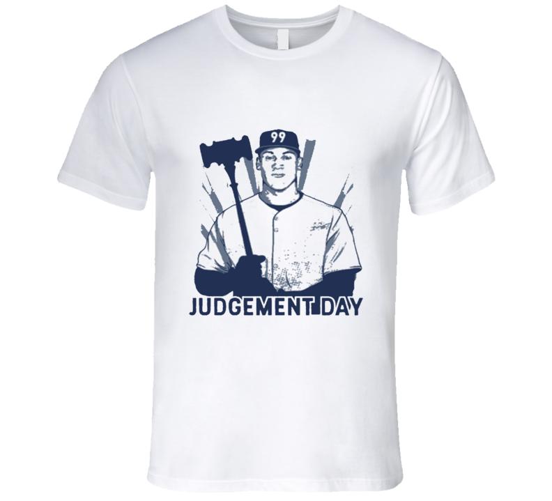 Aaron Judge New York Judgement Day Graphic Baseball  T Shirt