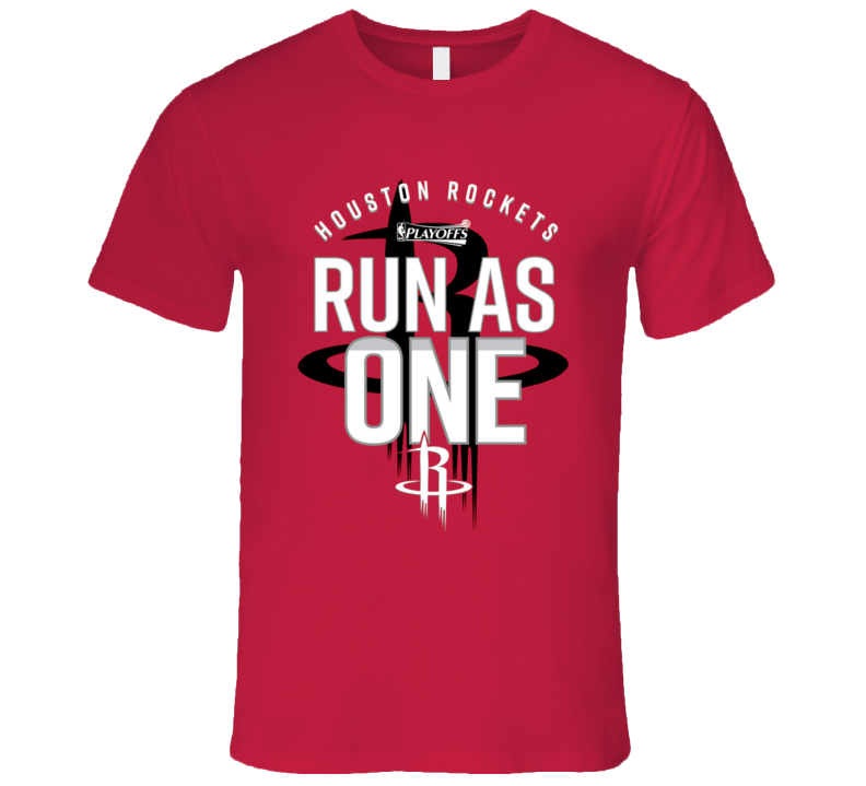 Houston custom tee run as one rockets graphic playoffs for Houston custom t shirts