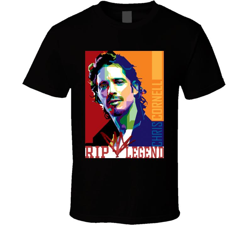 Chris Cornell Legend RIP Fan T Shirt