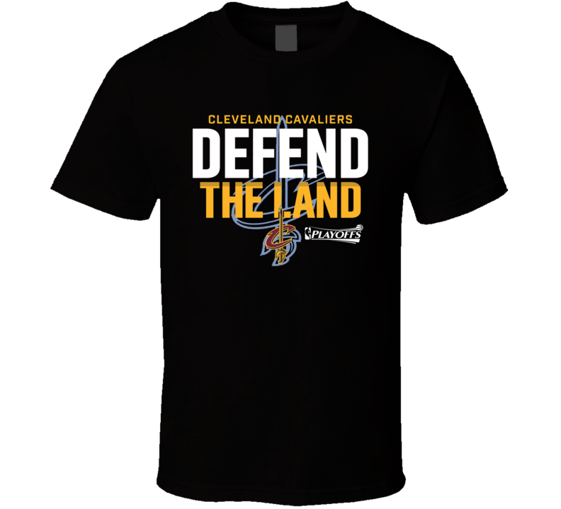 Cleveland Defend The Land Graphic Tee Casual Basketball T Shirt