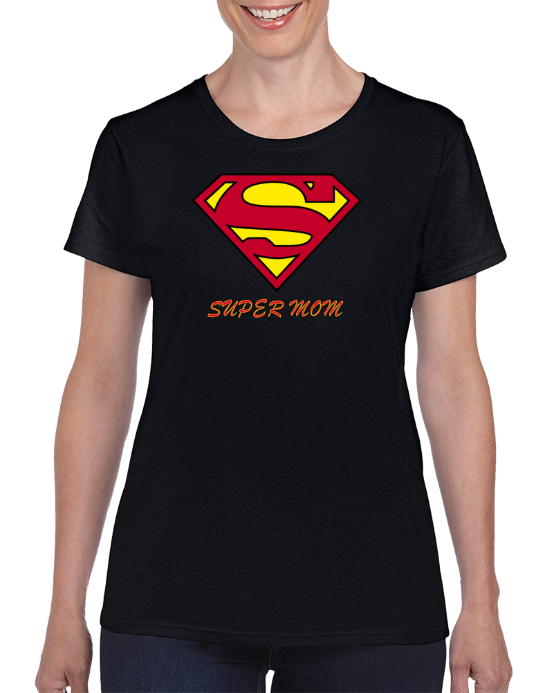 Super Mom Superwoman Family Matching Tees Mothers Day & Birthday Party Gift T Shirt