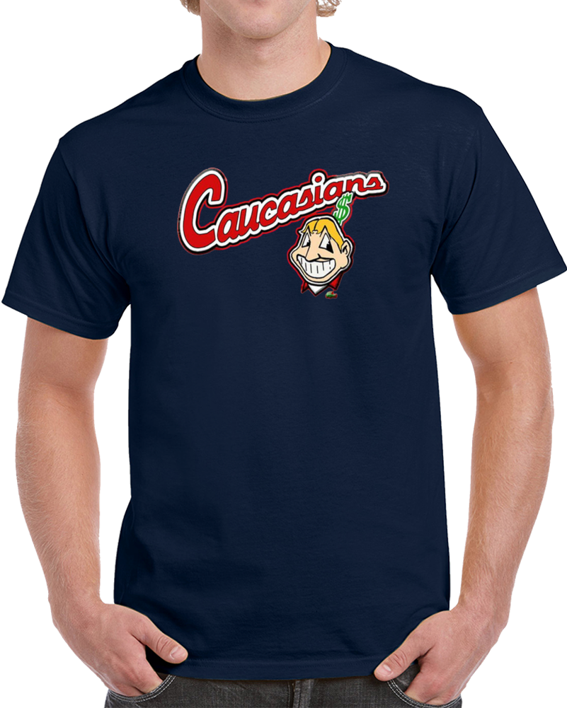 Bomani Jones Cleveland Caucasians Funny Parody T Shirt