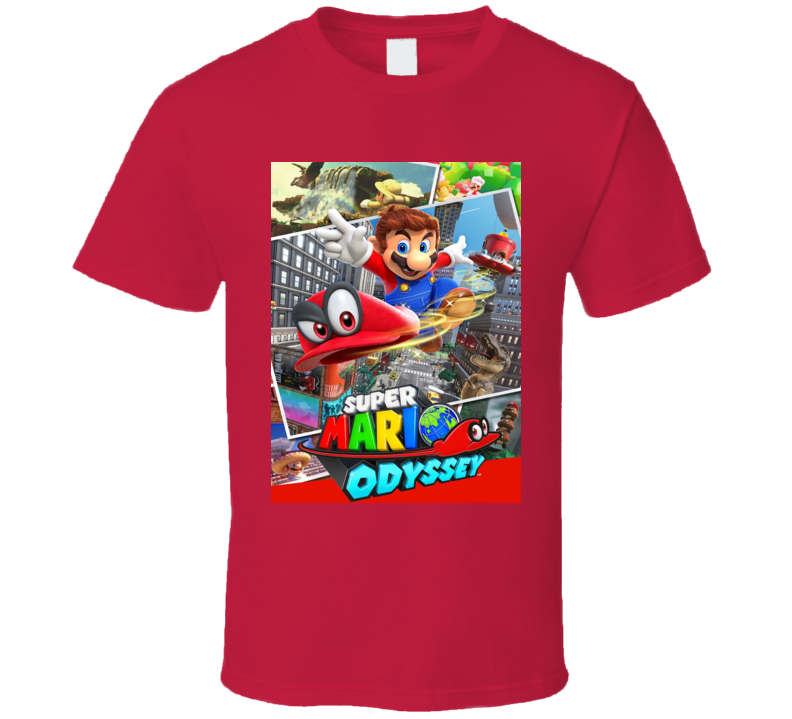 Super Mario Odyssey Nintendo Cover T Shirt