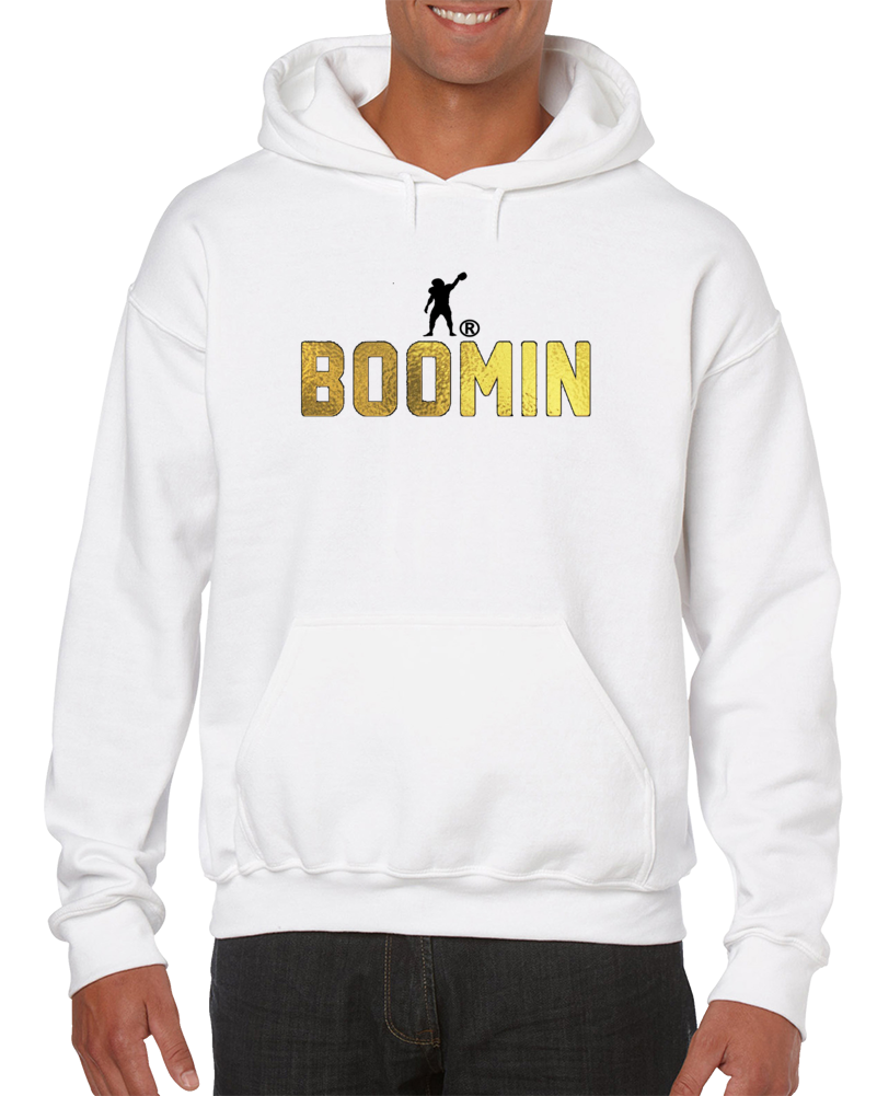 Antonio Brown Gold Boomin Pullover Hoodie
