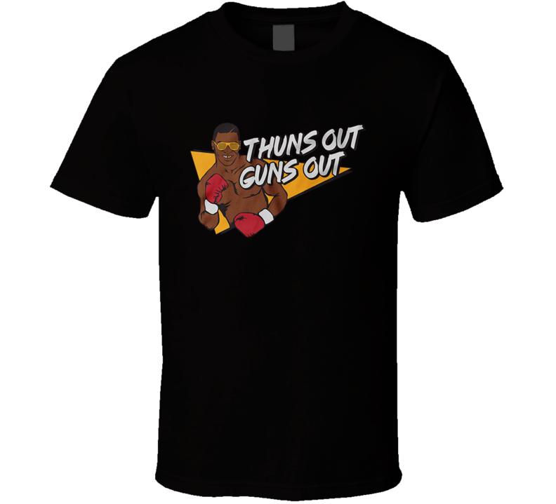 Mike Tyson Tee Thuns Out Guns Out T Shirt