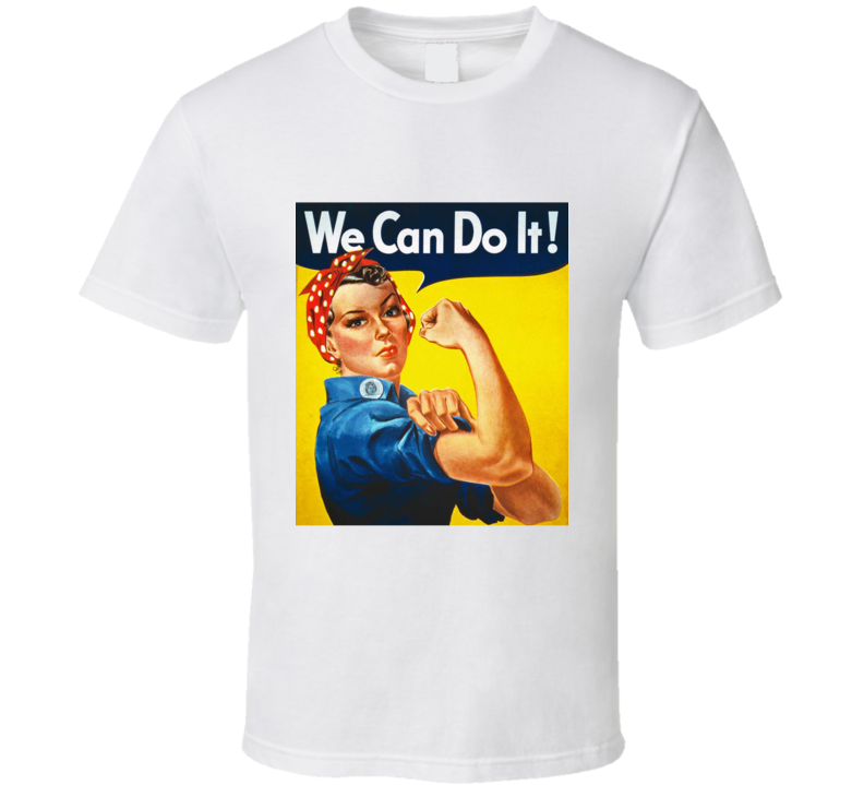 Rosie The Riveter Womens We Can Do It Fitness Gym Workers T Shirt