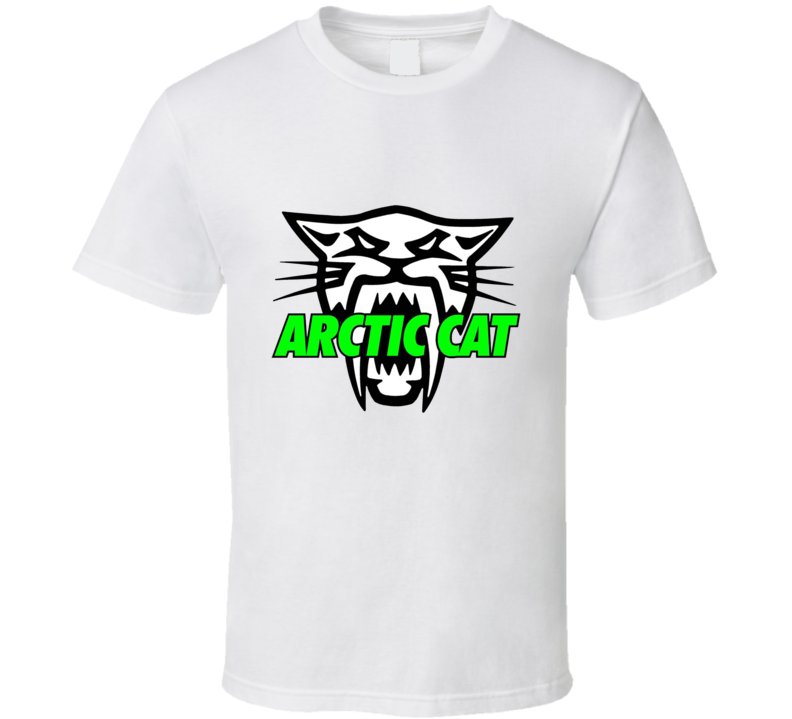 Arctic Cat Winter Power Equipment Skidoo Logo  Saber Sled Snowmobiles T Shirt