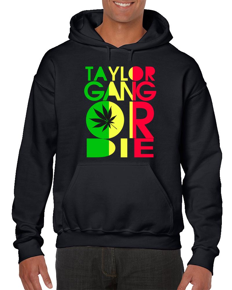 Taylor Gang Or Die Tgod Ice Green And Gold Marijuana Weed Sweatshirt Pullover Hoodie