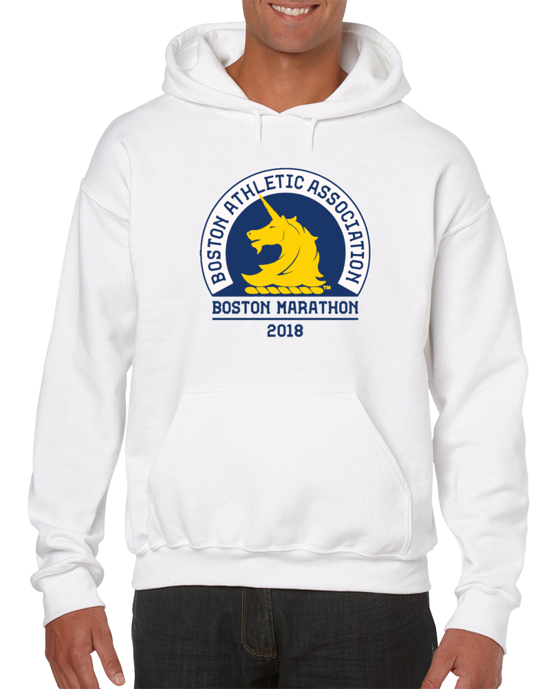 Boston Marathon Athletic Association Year 2018 Supporters Pullover T Shirt