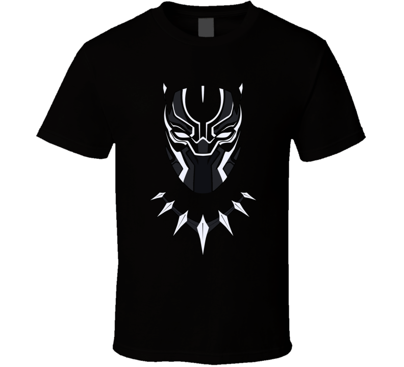 Chadwick Boseman Black Panther Mask Face T Shirt